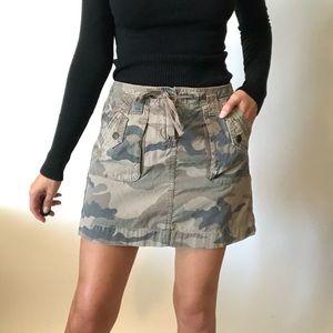 """{J. Crew} """"Chino"""" camo skirt"""
